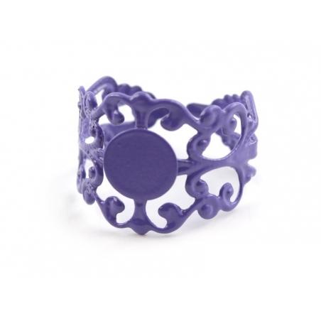 Baroque openwork ring blank - violet