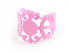 Baroque openwork ring blank - pale pink