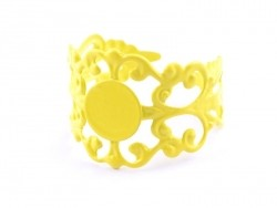Baroque openwork ring blank - yellow