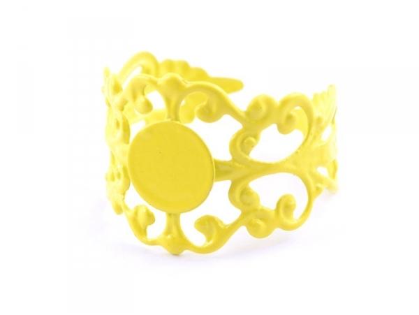 Acheter Support de bague baroque ajouré - jaune - 2,19€ en ligne sur La Petite Epicerie - Loisirs créatifs