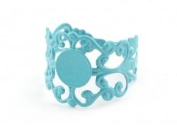 Acheter Support de bague baroque ajouré - bleu turquoise - 2,19€ en ligne sur La Petite Epicerie - 100% Loisirs créatifs