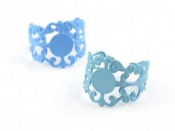 Baroque openwork ring blank - turquoise