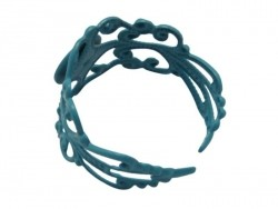 Baroque openwork ring blank - blue