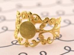 Support de bague baroque ajouré - couleur doré