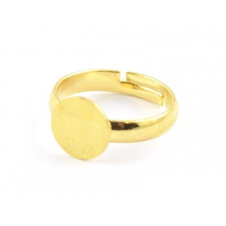 Ring blank for children - gold-coloured