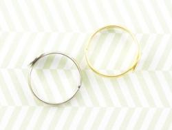 1 Ringfassung - hellsilber - verstellbar