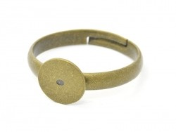 1 bronze-coloured ring blank