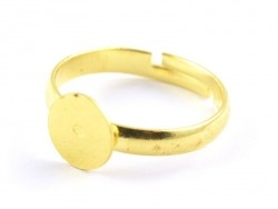 Ring black - golden