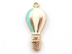 Enamelled pendant - Hot-air balloon