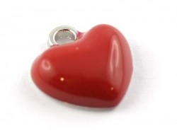 Enamelled pendant - Red heart