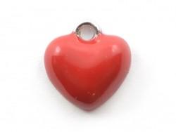 Enamelled pendant - Red heart