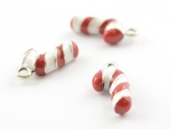 Enamelled pendant - Candy cane