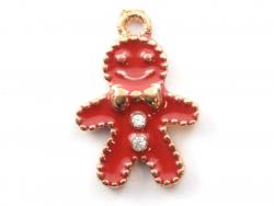 Enamelled pendant - Gingerbread man