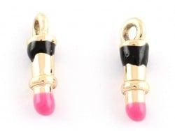 Acheter Breloque émaillée - rouge à lèvres - 1,09€ en ligne sur La Petite Epicerie - Loisirs créatifs