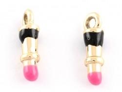 Enamelled pendant - Lipstick