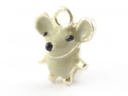 Breloque émaillée - petite souris