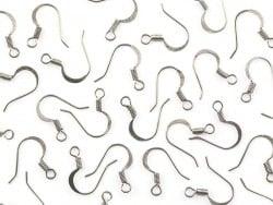 10 paires de boucles d'oreilles - crochets plats - couleur argenté  - 1