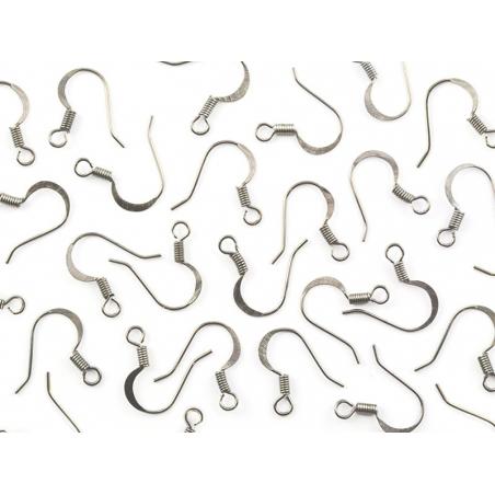 Acheter 10 paires de boucles d'oreilles - crochets plats - couleur argenté - 2,19€ en ligne sur La Petite Epicerie - 100% Lo...