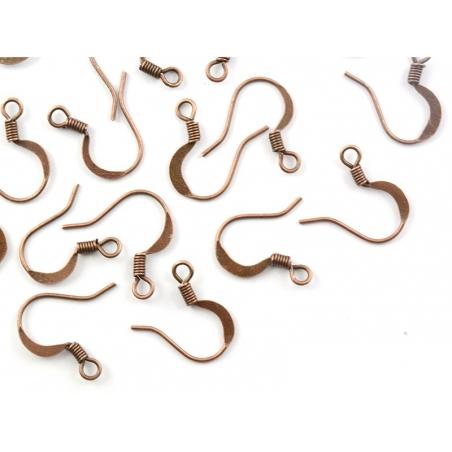 Acheter 10 paires de boucles d'oreilles - crochets plats - couleur cuivre - 2,19€ en ligne sur La Petite Epicerie - 100% Loi...