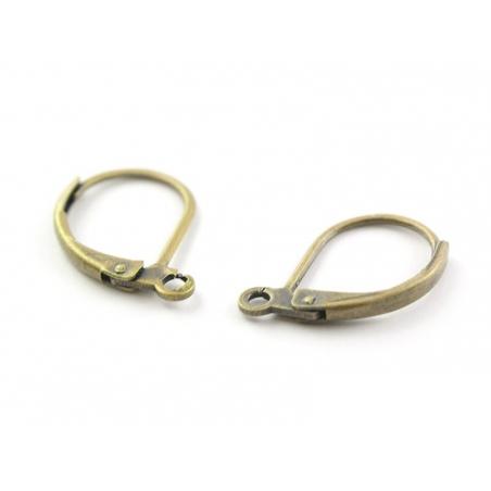 1 paire de boucles d'oreilles dormeuses couleur bronze