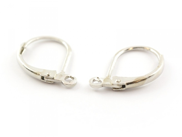 Acheter 1 paire de boucles d'oreilles dormeuses argentées - 1,39€ en ligne sur La Petite Epicerie - Loisirs créatifs