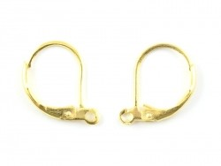 1 Paar silberfarbene Ohrringe mit Klappbügelverschluss