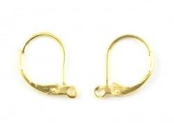 1 paire de boucles d'oreilles dormeuses - couleur or