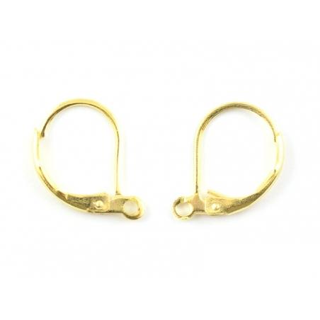 1 paire de boucles d'oreilles dormeuses - couleur or  - 2