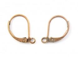 Acheter 1 paire de boucles d'oreilles dormeuses - couleur cuivre - 1,39€ en ligne sur La Petite Epicerie - Loisirs créatifs
