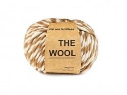 Peruanische Wolle - Beige gestreift
