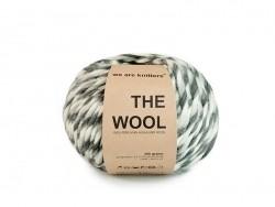 Peruanische Wolle - Grau gestreift