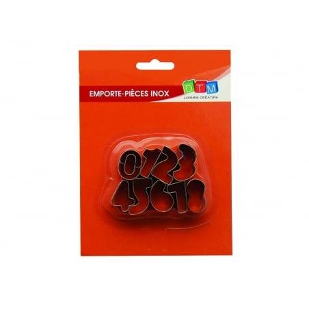 Emporte-pièces chiffres en inox Fimo - 2