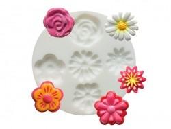 Kleine Silikonform - Blumen