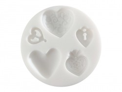 Small silicone mould - Hearts
