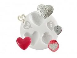 Kleine Silikonform - Herzen