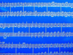 Plaque texture musique et calligraphie