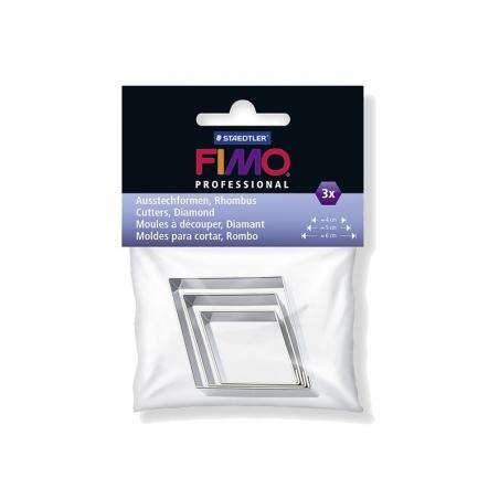 3 emporte-pièces diamant en métal Fimo - 2