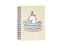 "Notebook - ""Nothing is impossible"""