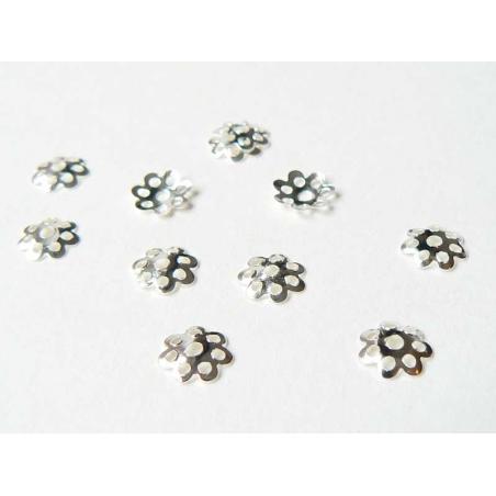 Acheter 50 coupelles pour perle couleur argent clair - 2,09€ en ligne sur La Petite Epicerie - Loisirs créatifs