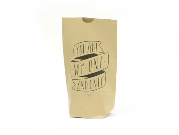 5 kraft paper bags - You are my one and only