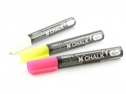 3 white/yellow/pink chalk markers (6 mm)