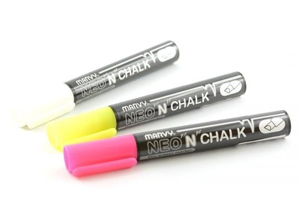 Acheter 3 marqueurs craie blanc/jaune/rose 6mm - 6,90€ en ligne sur La Petite Epicerie - 100% Loisirs créatifs