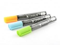 3 marqueurs craie bleu/vert/orange 6mm