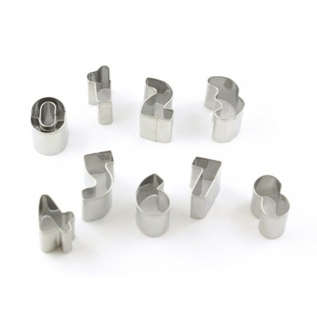 Biscuit cutters (stainless steel) - Numbers