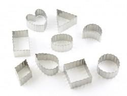 Ausstechform aus rostfreiem Metall - gewellte Formen