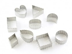 Emporte-pièces formes ondulées en inox