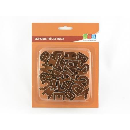 Acheter Emporte-pièces alphabet en inox - 12,90€ en ligne sur La Petite Epicerie - 100% Loisirs créatifs