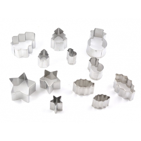 Biscuit cutters (stainless steel) - Christmas