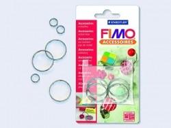 4 Ringe zur Anfertigung von Schmuck aus Modelliermasse