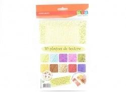 Acheter 10 plaques de texture n°1 - 13,90€ en ligne sur La Petite Epicerie - 100% Loisirs créatifs